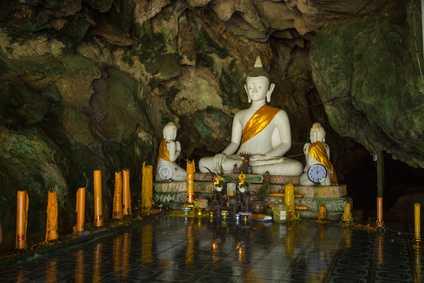 Eine buddhistische Statue in Thailand.