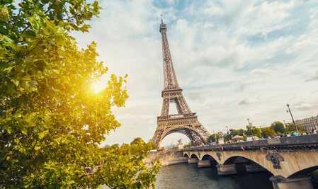 Der Eiffelturm in Frankreich.