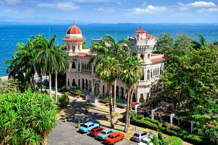Ein Palast auf Kuba.