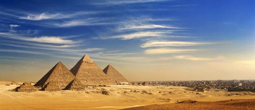 Pyramiden bei Kairo.