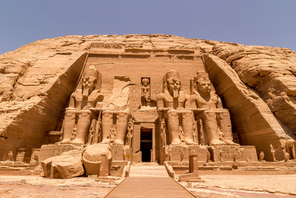 Ein Tempel in Ägypten.