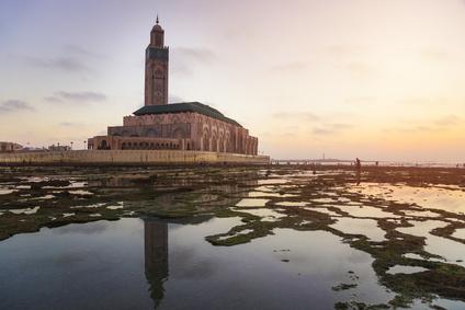 Eine Moschee in Marokko.