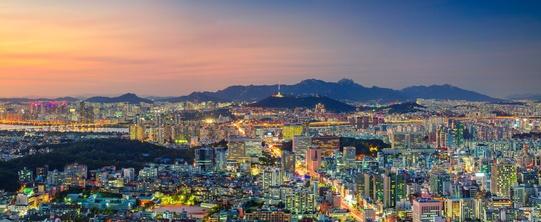 Ein Blick auf Südkoreas Hauptstadt Seoul.